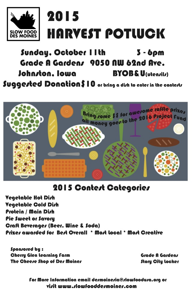 2015_09_05 Slow Food Harvest Poster